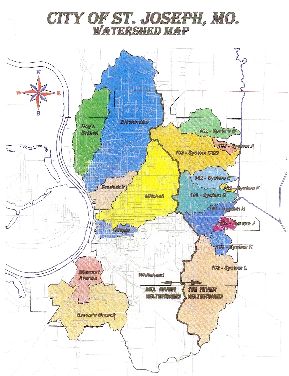 St Joseph MO Official Website Charts Maps Diagrams - Map mo