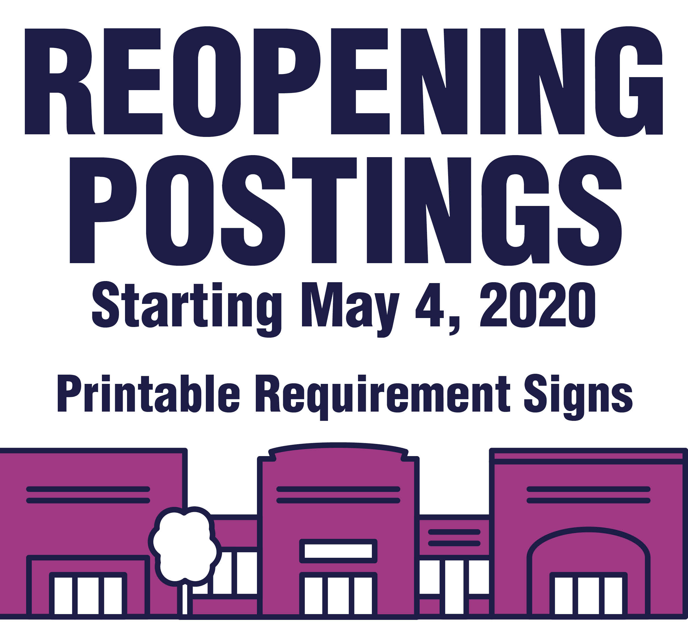 Reopening Business Signs