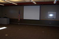 Screen in conference room