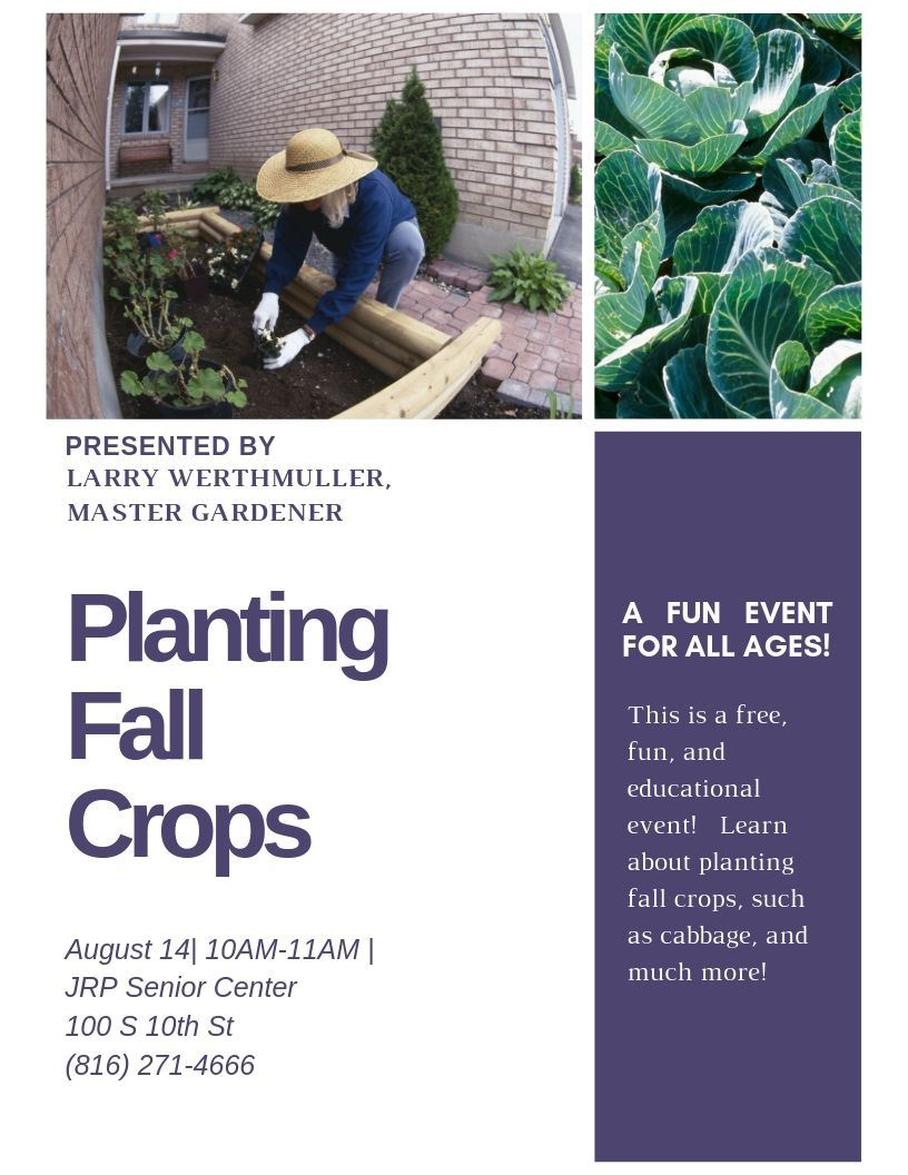 Planting Fall Crops Flyer 2
