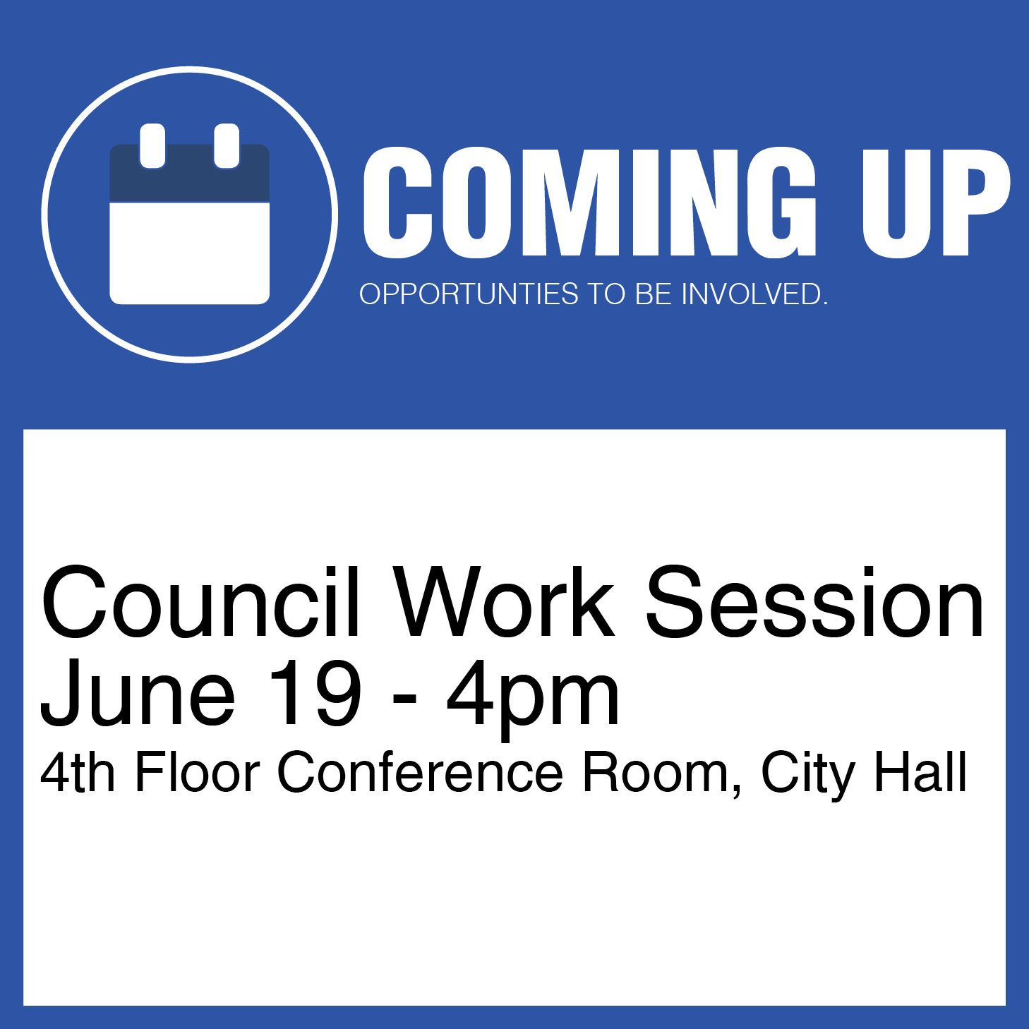 Work Session June 19, 2019